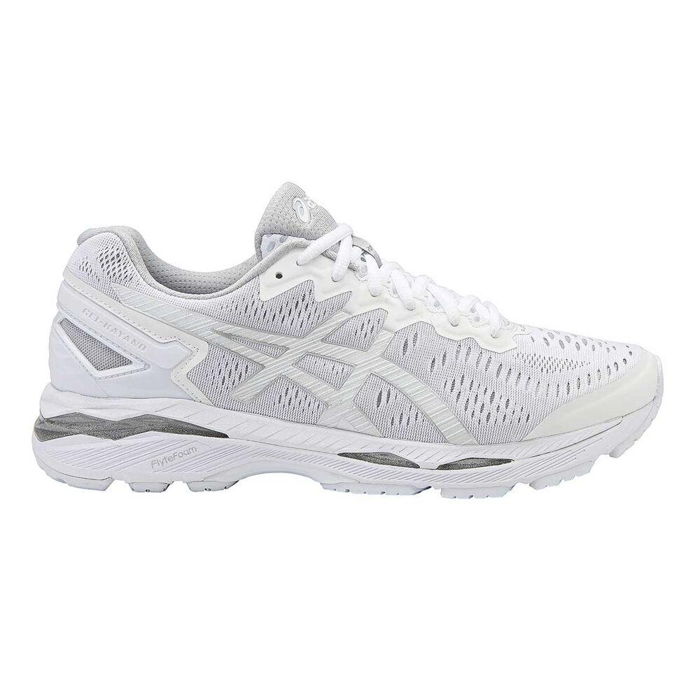 41e6e344b7ea Asics GEL Kayano 23 D Mens Running Shoes White   Silver US 9