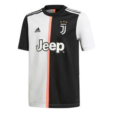 Juventus FC 2019/20 Kids Home Jersey Black / White 10, Black / White, rebel_hi-res