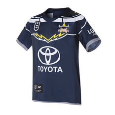 North Queensland Cowboys 2019 Kids Home Jersey Navy 8, Navy, rebel_hi-res