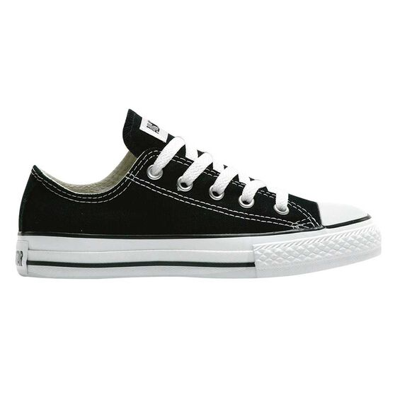Converse Chuck Taylor All Star Ox Junior Casual Shoes, Black / White, rebel_hi-res