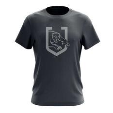 Penrith Panthers Exclusive Tee Grey S, Grey, rebel_hi-res