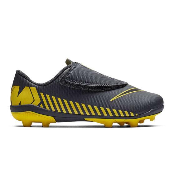 Nike Mercurial Vapor 12 Club Kids Football Boots Grey / Black US 13, Grey / Black, rebel_hi-res