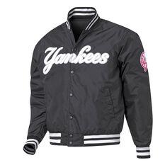 New York Yankees Mens Bomber Jacket Black S, Black, rebel_hi-res