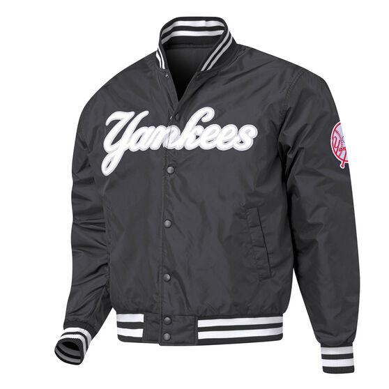 New York Yankees Mens Bomber Jacket, Black, rebel_hi-res