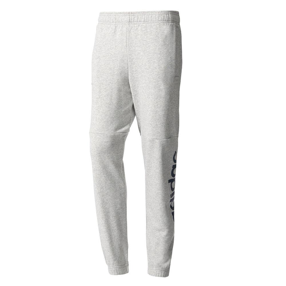 6ff8969a9092 adidas Mens Essentials Linear Sweatpants Grey   Navy S Adult