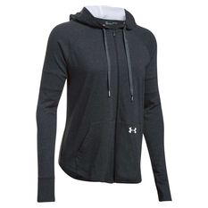 Under Armour Womens Sportstyle Full Zip Hoodie Black / White XS Adult, Black / White, rebel_hi-res