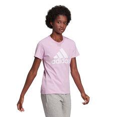 adidas Womens Essentials Logo Tee, Pink, rebel_hi-res