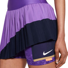 NikeCourt Womens Slam Tennis Skirt Purple XS, Purple, rebel_hi-res
