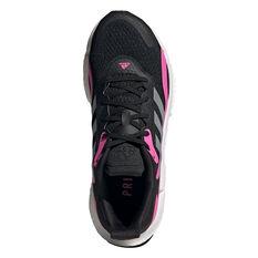 adidas SolarBoost 3 Womens Running Shoes, Black/Pink, rebel_hi-res