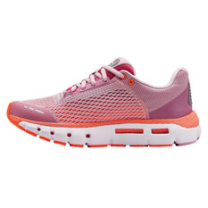 Under Armour HOVR Infinite Kids Running Shoes, Pink / White, rebel_hi-res