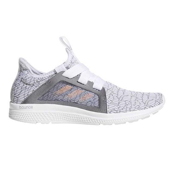 adidas Edge Lux Girls Running Shoes Grey / Coral US 4, Grey / Coral, rebel_hi-res