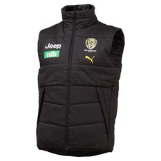 Richmond Tigers 2020 Mens Team Vest Black S, Black, rebel_hi-res