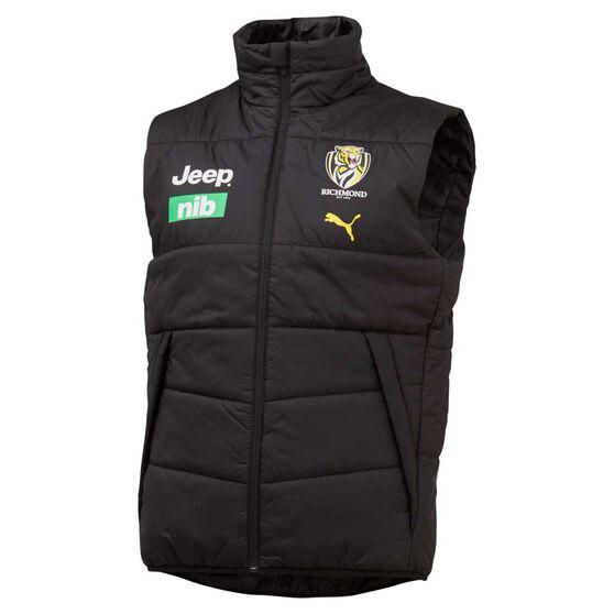 Richmond Tigers 2020 Mens Team Vest Black S, Black, rebel_hi-res