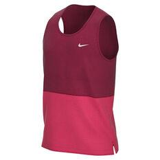 Nike Mens Breathe Running Tank Red S, Red, rebel_hi-res