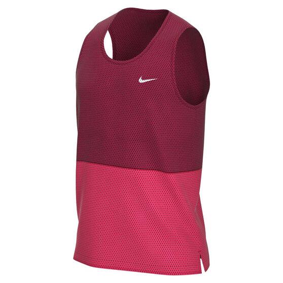 Nike Mens Breathe Running Tank Red M, Red, rebel_hi-res