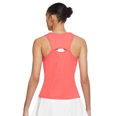 NikeCourt Womens Victory Tennis Tank Orange XS, Orange, rebel_hi-res