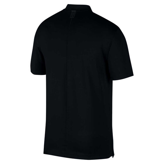Nike Mens Dri-FIT Tiger Woods Vapor Golf Polo Black XS, Black, rebel_hi-res