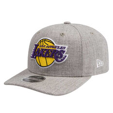 Los Angeles Lakers New Era 9FIFTY Heather Drop Cap Grey M/L, Grey, rebel_hi-res