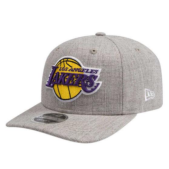 Los Angeles Lakers New Era 9FIFTY Heather Drop Cap Grey M/L, Grey, rebel_hi-res