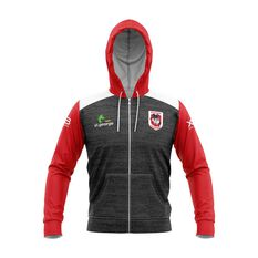 St George Illawarra Dragons 2019 Mens Team Hoodie Black / Red S, Black / Red, rebel_hi-res