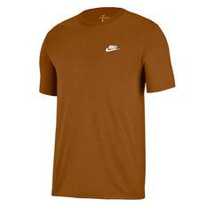 Nike Mens Sportswear Club Tee Brown XS, Brown, rebel_hi-res