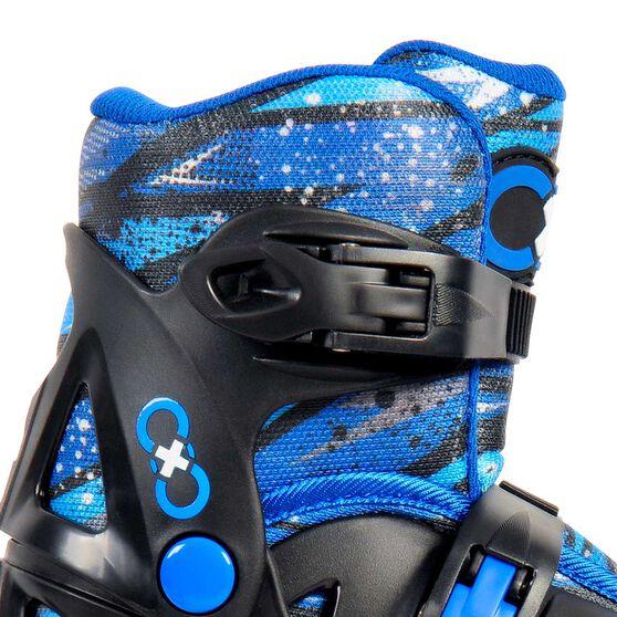 Goldcross GXC165 2 in 1 Inline Skates Blue 3-6, Blue, rebel_hi-res