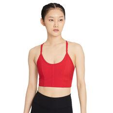 Nike Womens Yoga Dri-FIT Indy Sports Bra Red XS, Red, rebel_hi-res