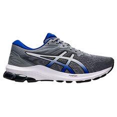 Asics GT 1000 10 2E Mens Running Shoes Grey/Blue US 7, Grey/Blue, rebel_hi-res