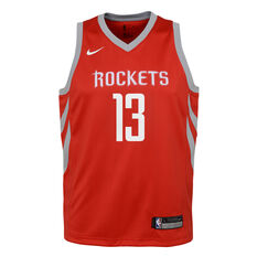 Nike Houston Rockets James Harden Icon 2019 Kids Swingman Jersey Red S, Red, rebel_hi-res
