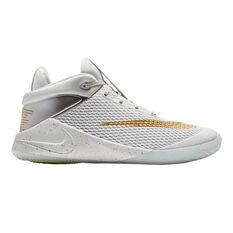 Nike Future Flight Kids Basketball Shoes White / Gold US 1, White / Gold, rebel_hi-res