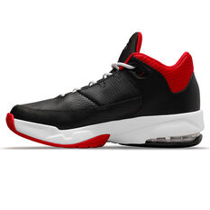 Jordan Max Aura 3 Kids Basketball Shoes Black US 4, Black, rebel_hi-res