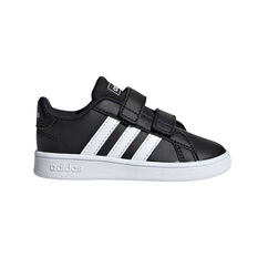 adidas Grand Court Kids Toddler Shoes Black / White US 3, Black / White, rebel_hi-res