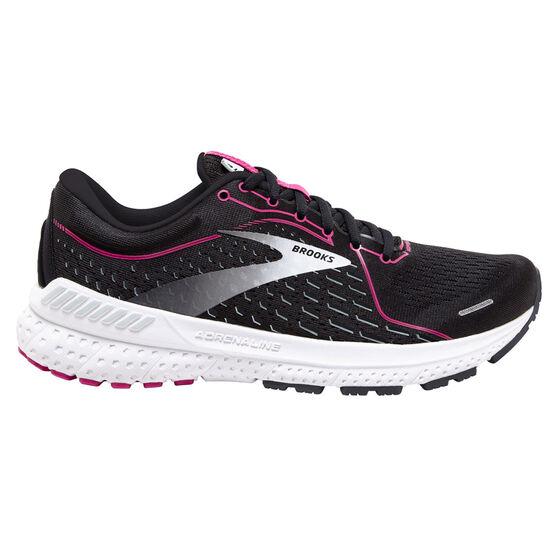 Brooks Adrenaline GTS 21 Womens Running Shoes, Black/Pink, rebel_hi-res