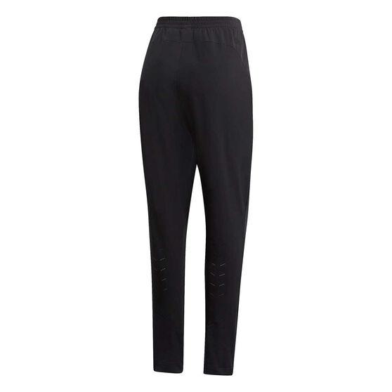 adidas Womens Franchise Woven Tracksuit Pants Black XL, Black, rebel_hi-res