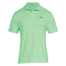 Under Armour Mens Performance Polo Green S, Green, rebel_hi-res