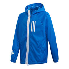 adidas Boys ID Windbreaker Jacket Blue / White 10, Blue / White, rebel_hi-res