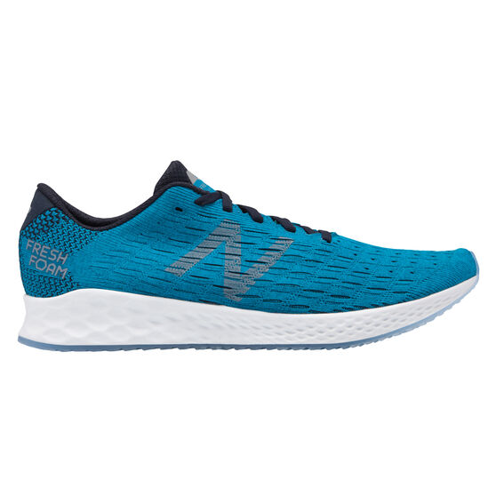 New Balance Zante Pursuit Mens Running Shoes, Teal / White, rebel_hi-res
