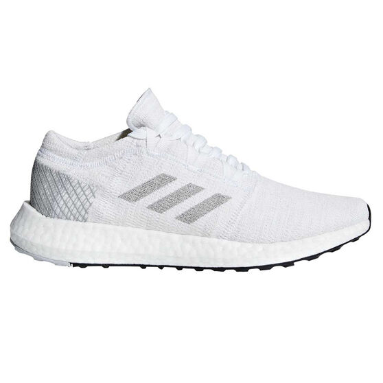 order online sale online on sale adidas Pureboost GO Womens Running Shoes White / Grey US 10