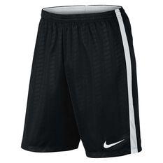 Nike Mens Academy Football Shorts Black / White S Adults, Black / White, rebel_hi-res