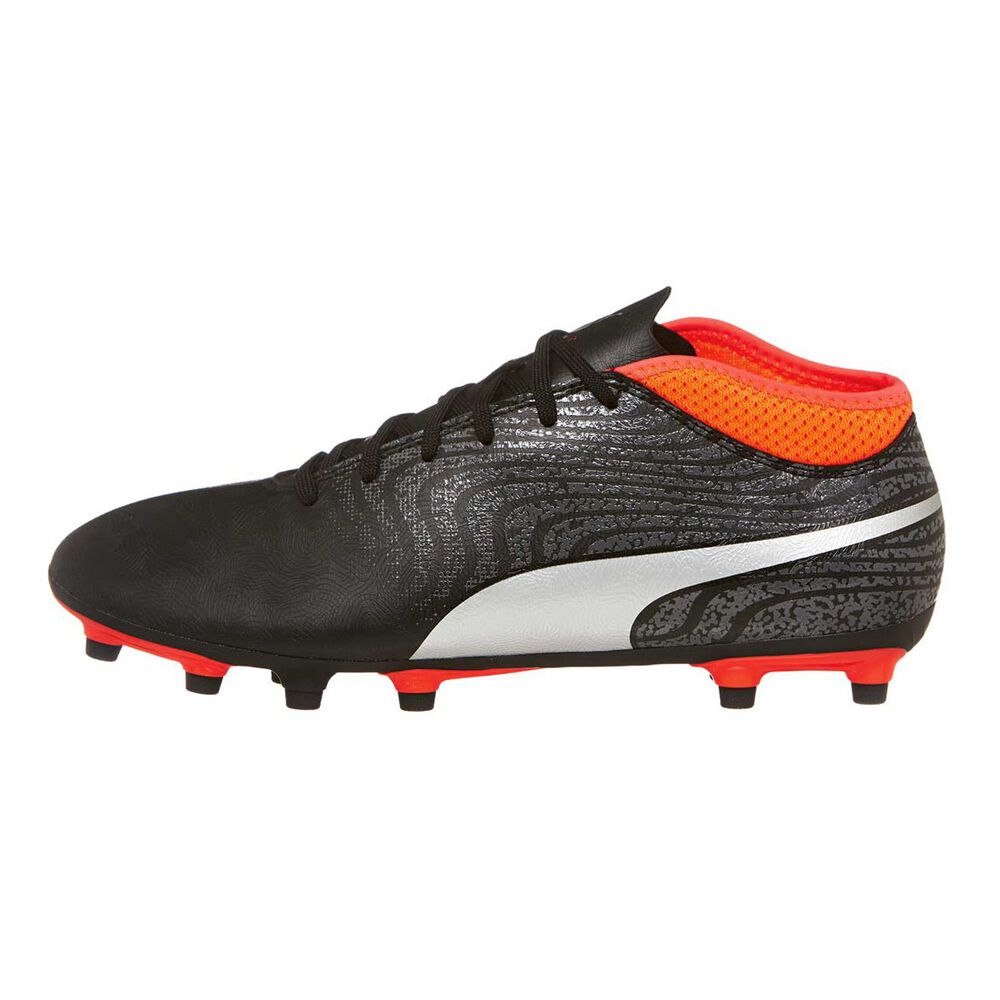 bb400683cbb Puma One 18.4 Mens Football Boots Black   Silver US 7.5 Adult ...
