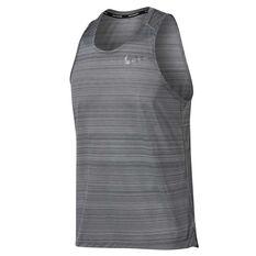 Nike Mens Dri FIT Miler Running Tank Grey S, Grey, rebel_hi-res
