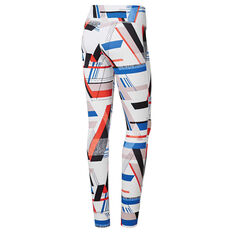 Reebok Womens Lux Bold Tights White / Multi XS, White / Multi, rebel_hi-res