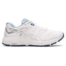 Asics GT 1000 Leather D Womens Training Shoes White US 6, White, rebel_hi-res