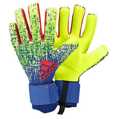 adidas Predator Pro Goalkeeper Gloves Yellow / Blue 8, Yellow / Blue, rebel_hi-res