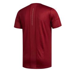 adidas Mens 25/7 Running Tee Red S, Red, rebel_hi-res