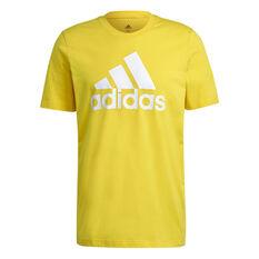 adidas Essentials Mens Big Logo Tee Yellow M, Yellow, rebel_hi-res