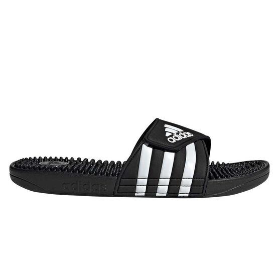 adidas Adissage Mens Slides, Black / White, rebel_hi-res