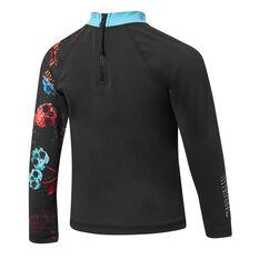 Tahwalhi Boys Skull Salad Long Sleeve Rash Vest Black 4, Black, rebel_hi-res