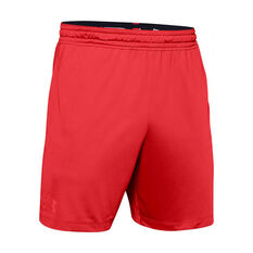 Under Armour Mens MK-1 7in Shorts Red M, Red, rebel_hi-res