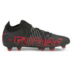 Puma Future Z 1.2 Football Boots Black/Red US Mens 7 / Womens 8.5, Black/Red, rebel_hi-res